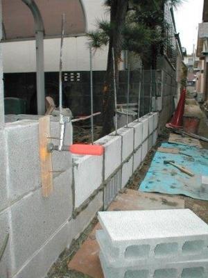 (ブロックの塀修理途中)16積込2段目から3段目へ?.JPG