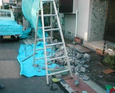 ブロック塀積み替え09解体壊し後.JPG
