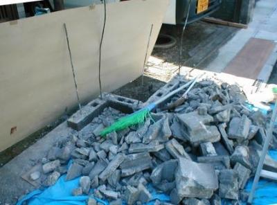 ブロック塀積み替え12解体後.JPG