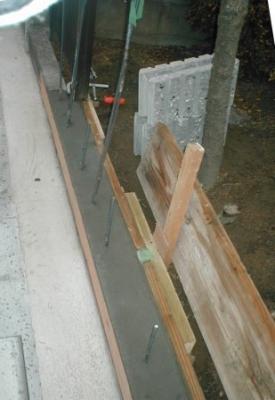 ブロック塀積み替え基礎13型枠板の継ぎ手付近.JPG