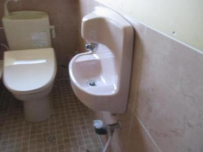 手洗い不調の調査01本体外し.JPG