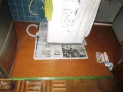 洗濯場床修理17フロアーパネル張り完了.JPG