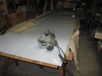 カーポート屋根20ポリカ板の切断加工?長さ落とし切断.JPG