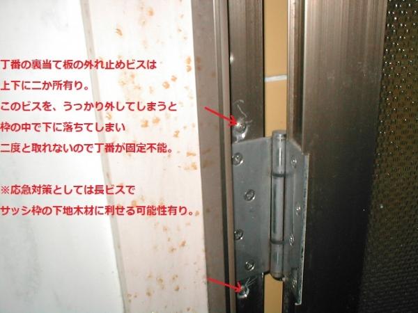 浴室のドア修理 ビスの取付戻し.jpg