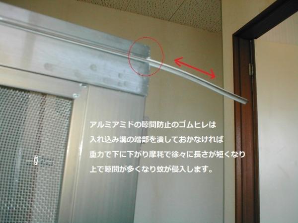 網戸の縦ヒレの抜け防止例?.JPG