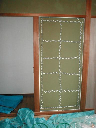 和室内壁合板下地?-2ボンド塗り例.JPG