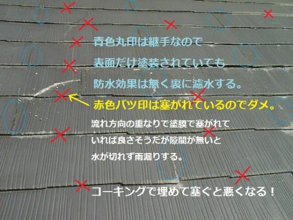 屋根雨漏り修理途中の踏み割れ部分範囲03雨漏り原因.jpg