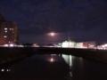 月蝕を眺める