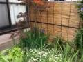 御簾垣に楓と菖蒲