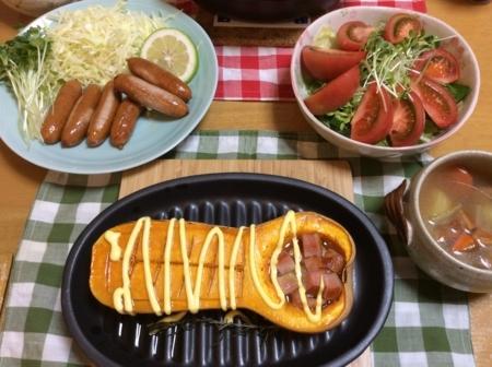 バターナッツのオーブン焼き