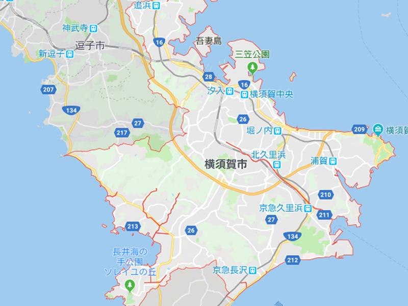 横須賀路線図
