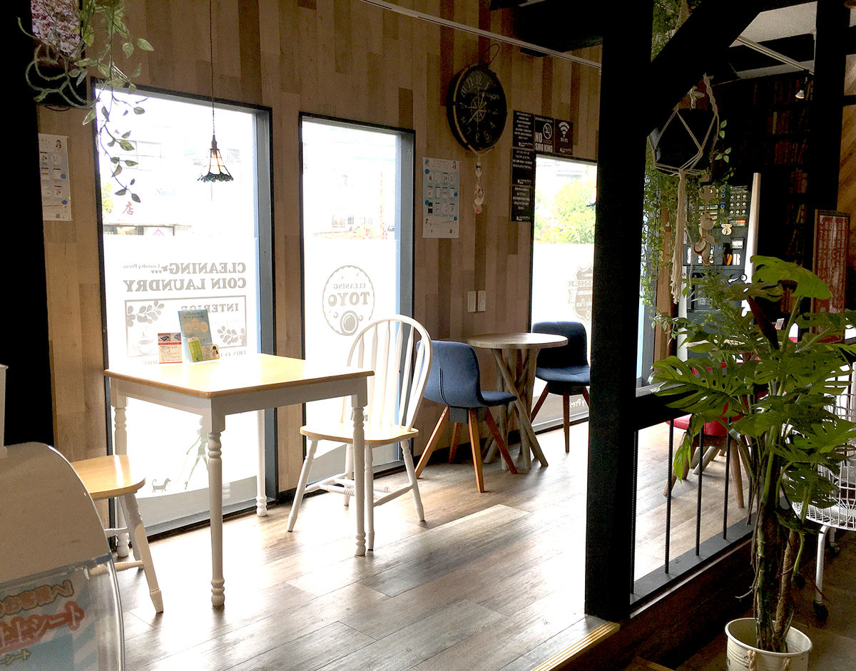 まるでカフェのような待機スペース