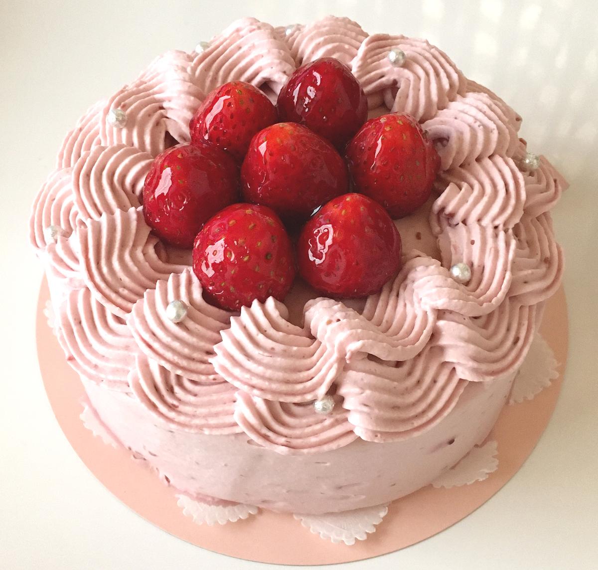 Wベリーのケーキ