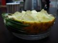葛餅のパイナップルボート
