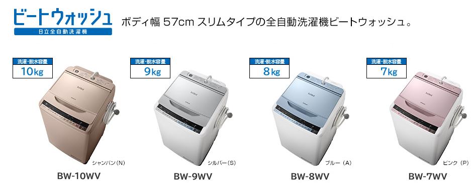 日立 ビートウォッシュ BW-10WV BW-9WV BW-8WV BW-7WV