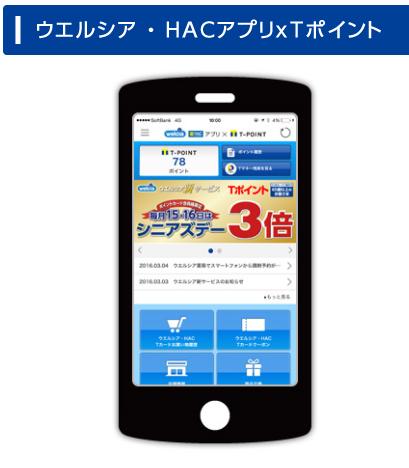 ウエルシア・HACアプリxTポイントアプリ