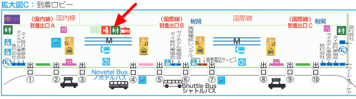スワンナプーム国際空港 到着ロビー 地図 マップ トイレ