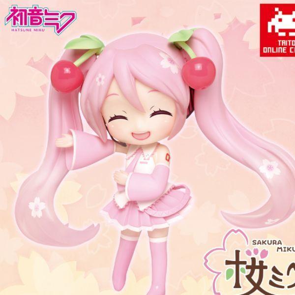 桜ミク Doll Crystalフィギュア (タイトーオンラインクレーンVer.)