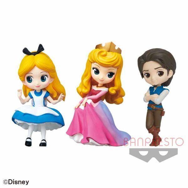 Disney CharactersQ posket petit -Alice・Princess Aurora・Flynn Rider-