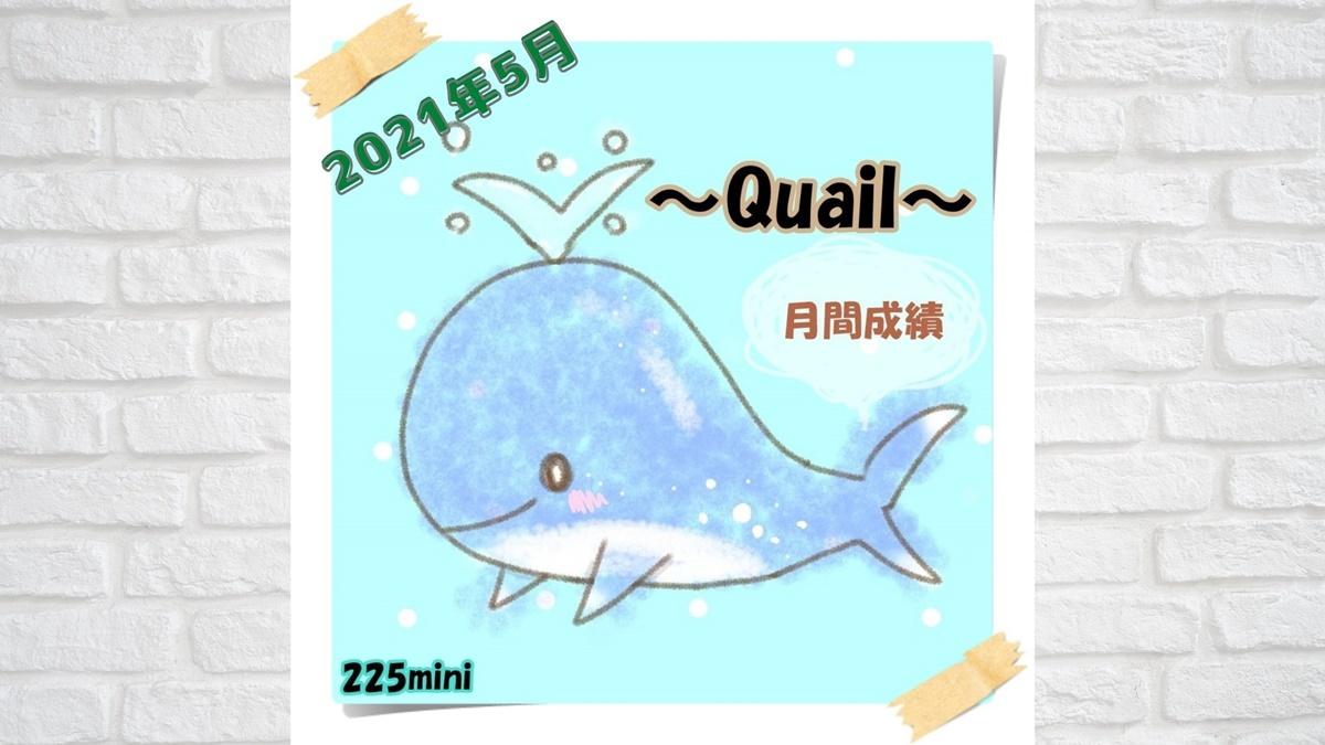 ~Quail~2021年5月の成績