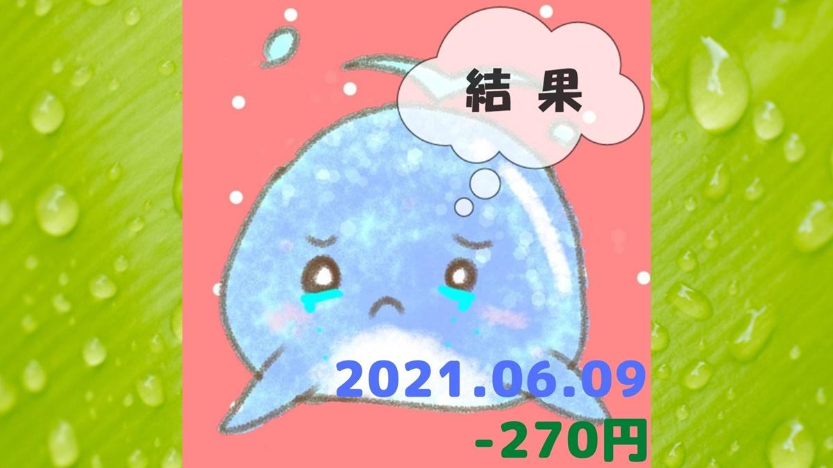 2021年6月9日の結果「寄り引け0枚の時」