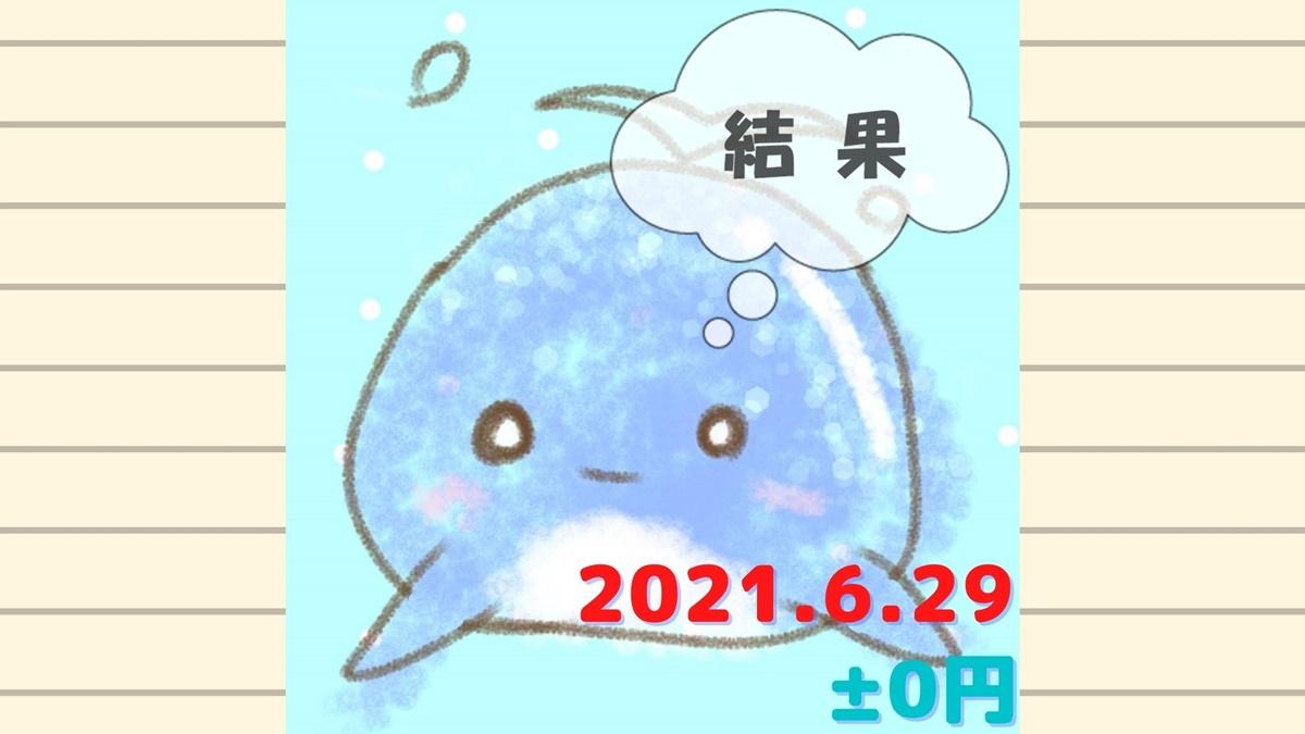 2021年6月29日の結果