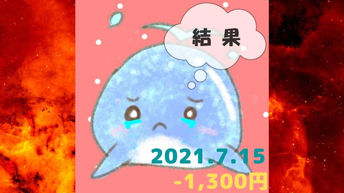 2021年7月15日の結果「寄り引け0枚の時」