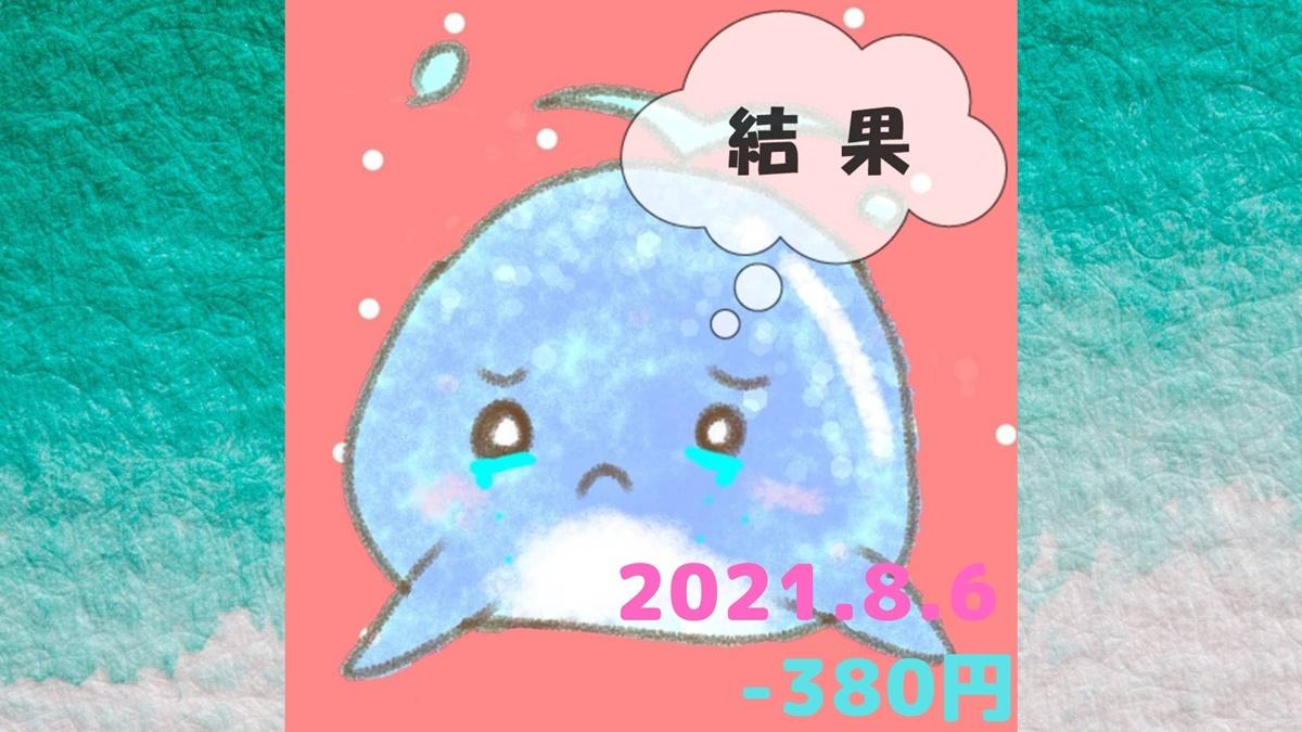 2021年8月6日の結果「寄り引け0枚の時」