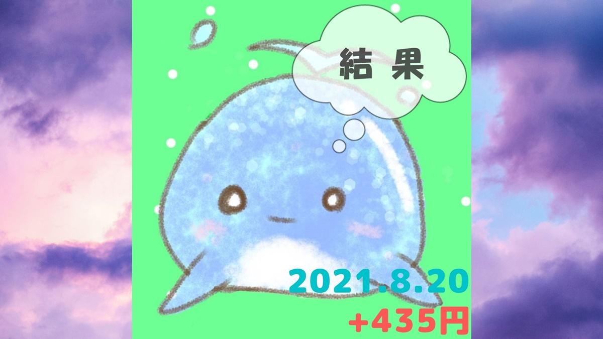 2021年8月20日の結果