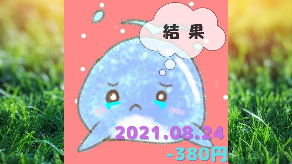 2021年8月24日の結果「寄り引け0枚の時」