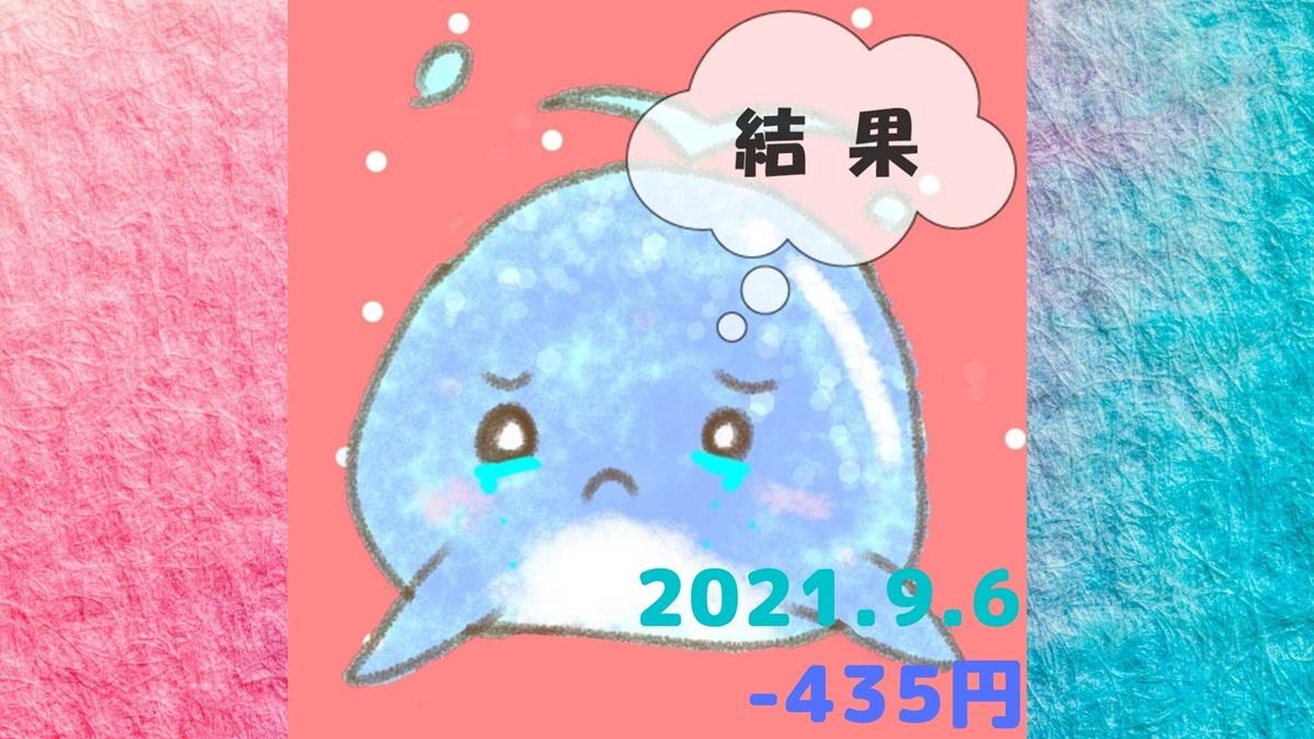 2021年9月6日の結果
