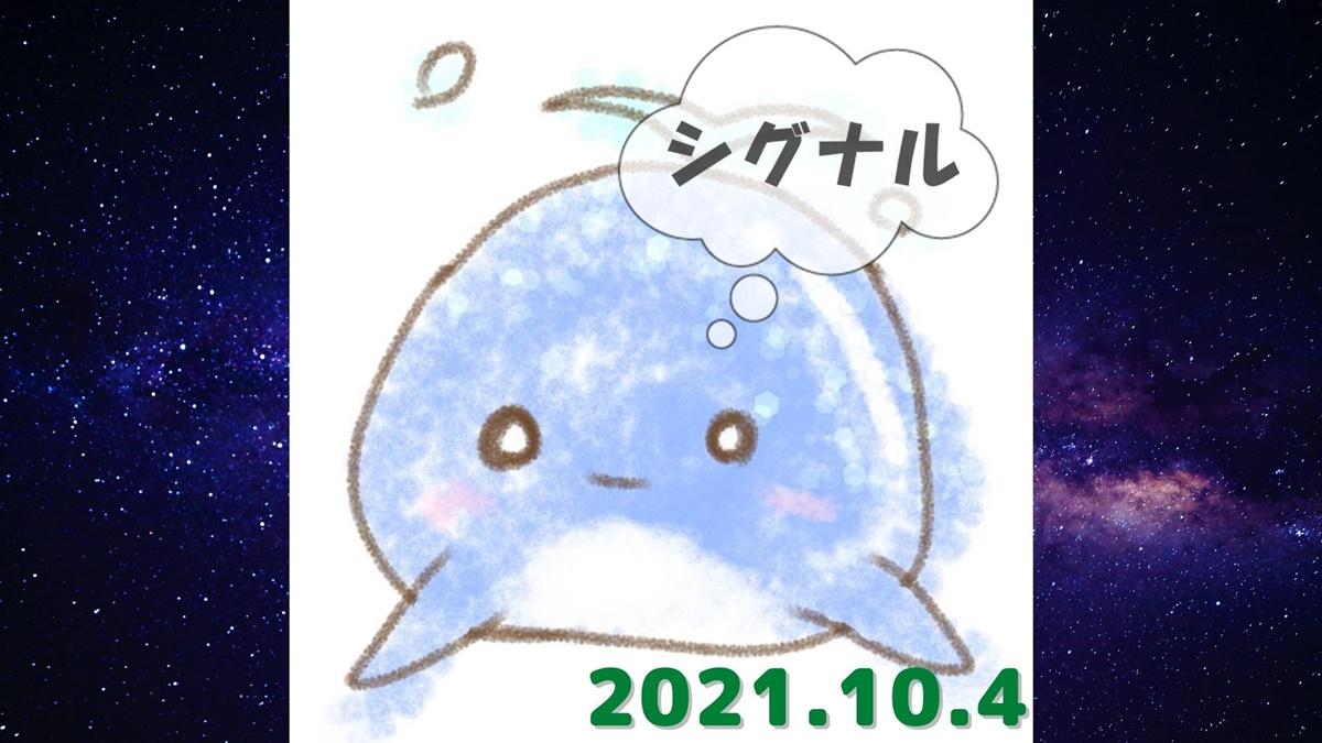 2021年10月4日(月)のシグナル