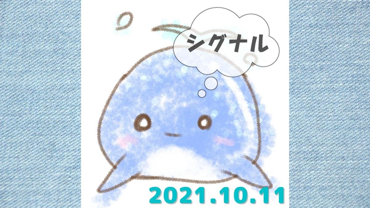 2021年10月11日(月)のシグナル