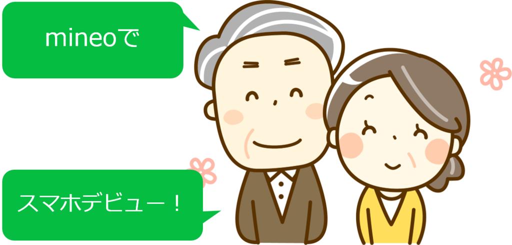 mineo シニア スマホデビュー