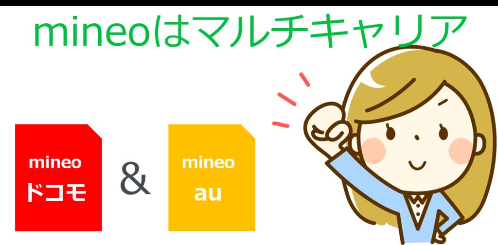 mineoはマルチキャリア