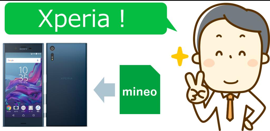 mineoでXperia