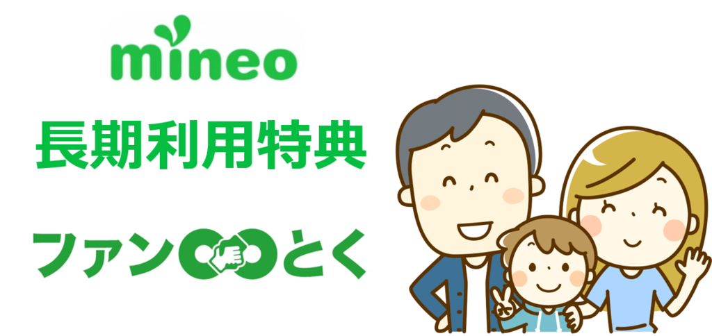 mineo長期利用特典「ファンとく」