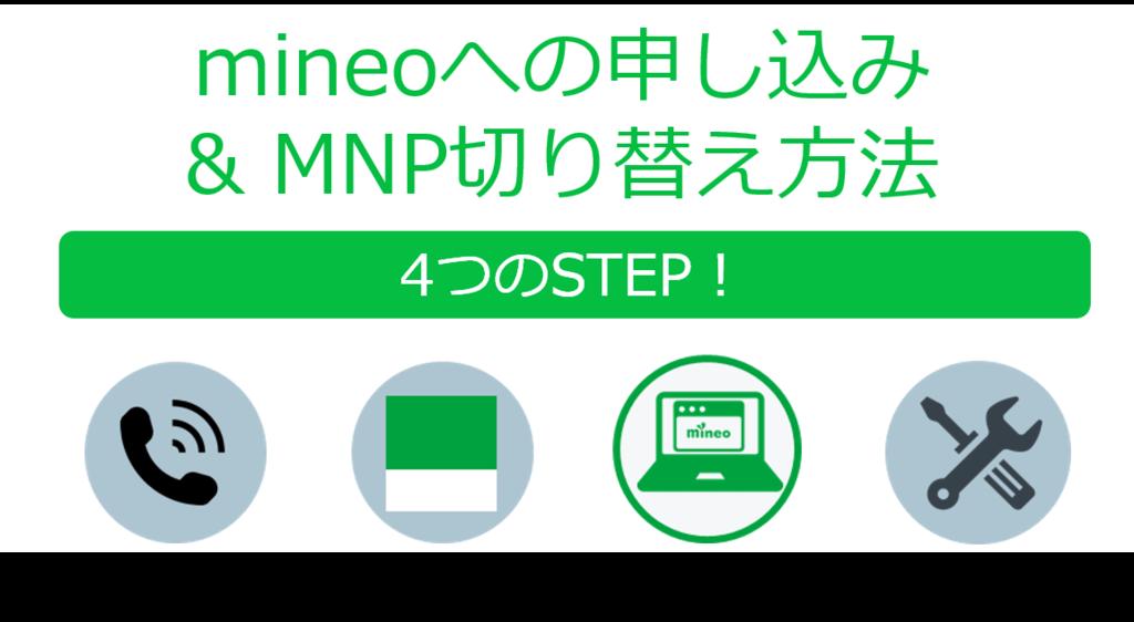 mineoへの申し込みとMNP切り替え方法