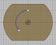 円弧を描きます。