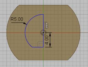 線分を描き寸法を指定します