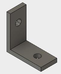 L字金具、スチールブラケット YSB-3014-4