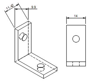 投影ビューに寸法を入れると、モデルの実寸法が表示されません。