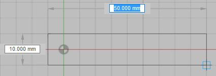 平面を選択し、長方形を描きます。
