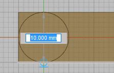 円を描いて、スケッチを停止します。