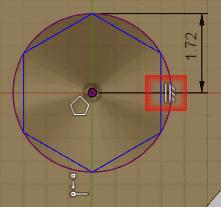 ポリゴンの垂直の辺に、垂直拘束を追加します。