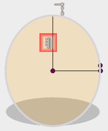 直角拘束が設定されるのでそれを削除し、垂直拘束を追加します。