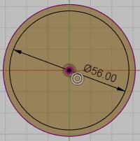 :内側の円を作成します。