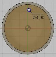 円を作成します。