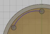 円弧を作成します。