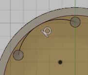 新しい円弧と内部の稜線を選択します。
